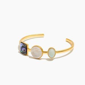 Madewell Geo Stone Cuff Bracelet